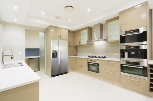 modern-kitchen-tan-cabinets-white-counter
